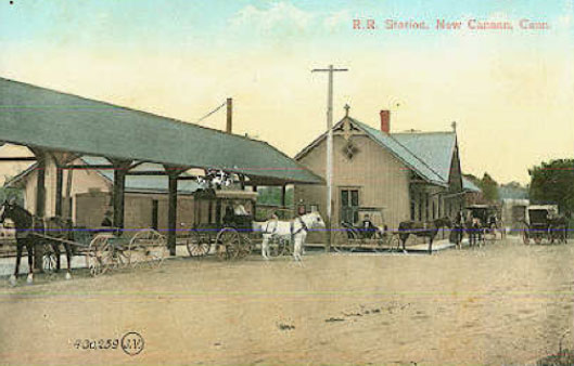 New Canaan first train station, circa 1913